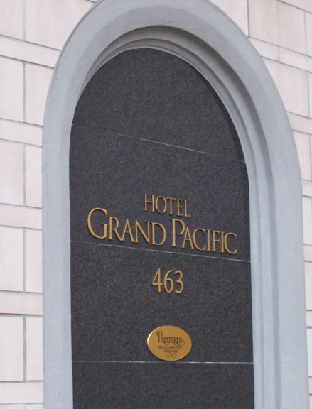 Grand Pacific Hotel Sign Image