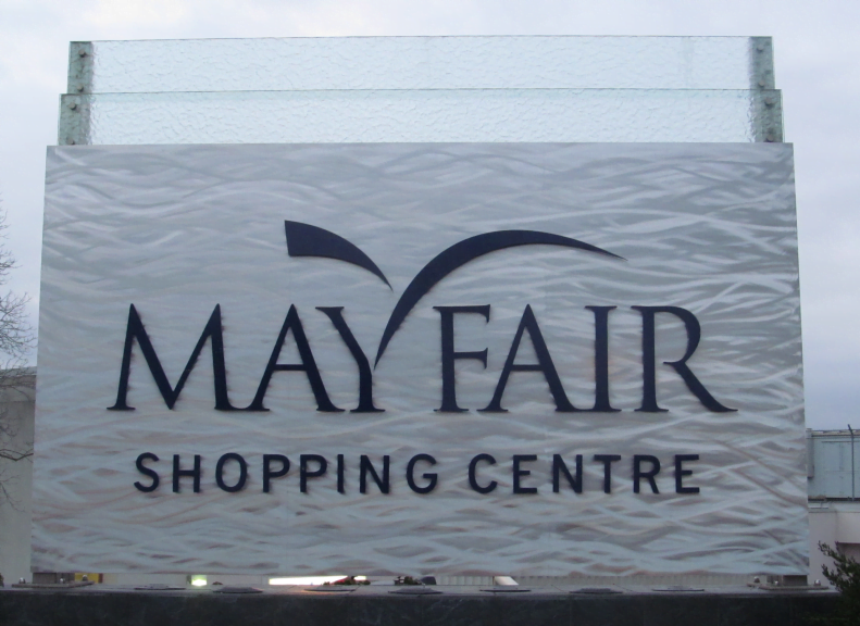 Mayfair Shopping Center Sign Image